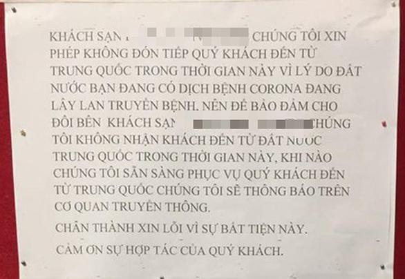Tranh cãi quanh chuyện khách sạn Đà Nẵng từ chối phục vụ khách Trung Quốc - Ảnh 1.