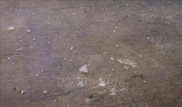 Mưa đá chưa từng thấy ở Ninh Bình chiều tối mùng 1 Tết - Ảnh 1.
