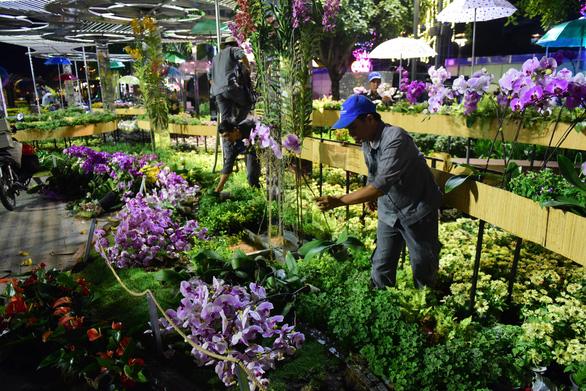 Hoa trên đường hoa Nguyễn Huệ 2020 khoe sắc trước giờ đóng cửa - Ảnh 5.