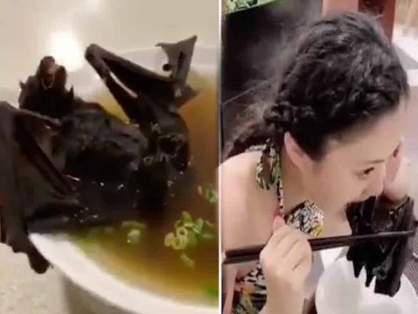 Người phụ nữ trẻ ăn dơi không phải người Vũ Hán - Ảnh 1.