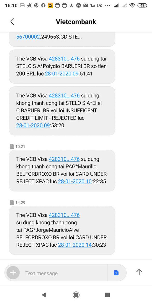Vietcombank khoá thẻ phát sinh giao dịch nghi ngờ giả mạo - Ảnh 1.