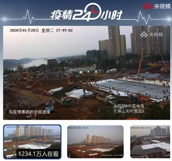 Trung Quốc xây dựng thần tốc 2 bệnh viện đối phó virus corona - Ảnh 3.