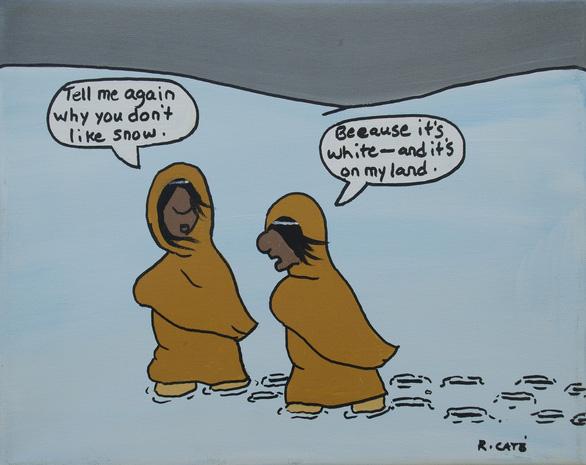 Những biếm họa thâm thúy của tác giả 2 mẹ con đi ra đi vào - Ảnh 2.