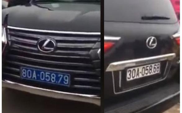 Lại thêm vụ xe Lexus đầu biển xanh 80A, đuôi biển trắng 30A - Ảnh 2.