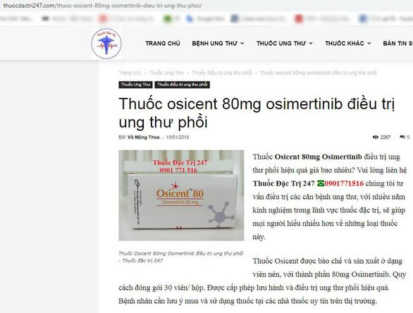 Bộ Y tế: Người dân không nên mua thuốc ung thư phổi trên mạng - Ảnh 3.