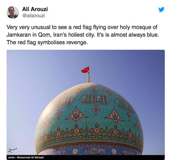 Xôn xao Iran lần đầu treo 'lá cờ phục hận' tưởng niệm tướng Soleimani - Ảnh 2.