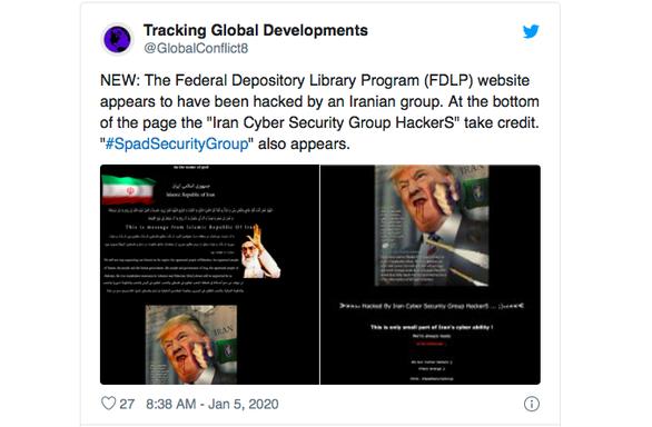 Hacker Iran tấn công trang web Mỹ chế hình tổng thống Trump?  - Ảnh 1.