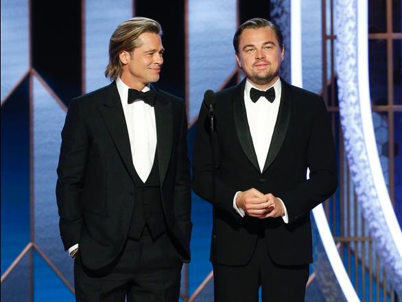 Brad Pitt và Leonardo khiến fan 'phát cuồng' tại Quả cầu vàng 2020 - Ảnh 1.