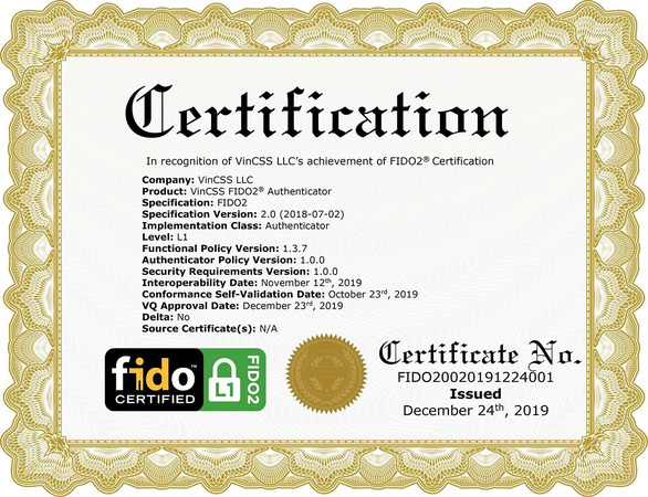 Vingroup đạt xác thực bảo mật FIDO2 toàn cầu - Ảnh 3.