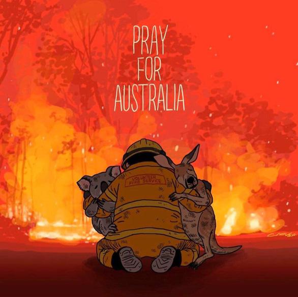 Thế giới cầu nguyện cho nước Úc vượt qua trận cháy rừng thảm khốc - Ảnh 3.