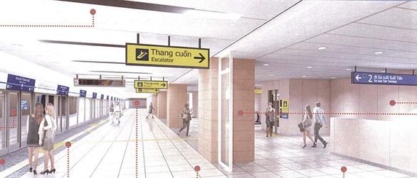 Metro số 1 Bến Thành - Suối Tiên sắp hoàn thiện ga Nhà hát TP - Ảnh 2.