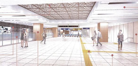 Metro số 1 Bến Thành - Suối Tiên sắp hoàn thiện ga Nhà hát TP - Ảnh 3.