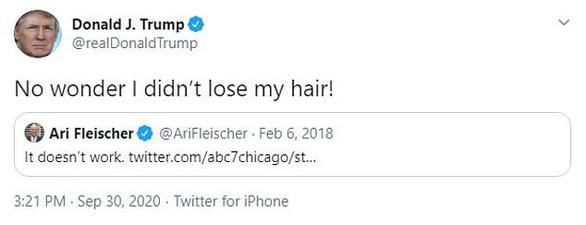Ông Trump bất ngờ phát hiện lý do mình không bị hói - Ảnh 2.