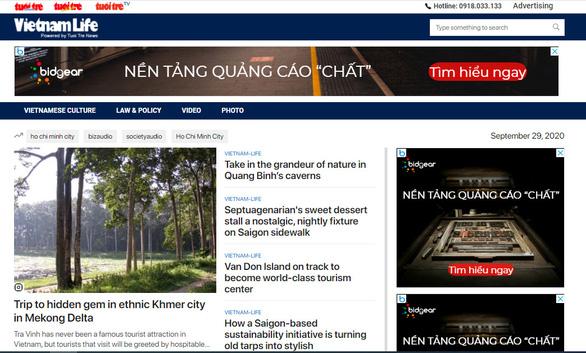 Tuổi Trẻ tiếng Anh ra mắt chuyên trang Vietnam Life - Ảnh 1.
