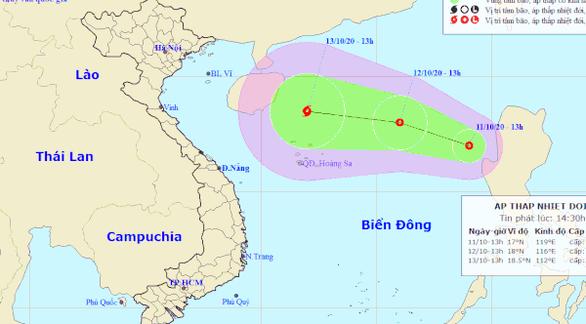 Bão số 6 vừa suy yếu, Biển Đông lại hình thành một áp thấp nhiệt đới - Ảnh 1.