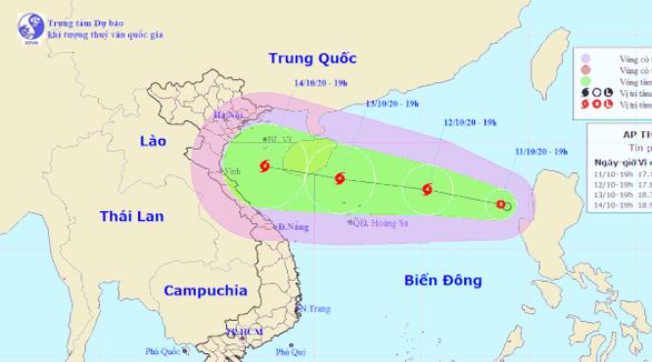Thêm áp thấp nhiệt đới có khả năng mạnh lên thành bão - Ảnh 1.