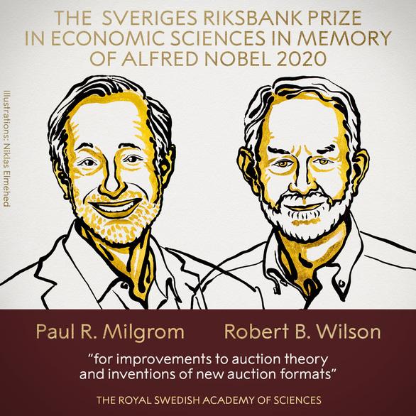 Nobel Kinh tế về tay 2 nhà kinh tế nghiên cứu lý thuyết đấu giá - Ảnh 1.