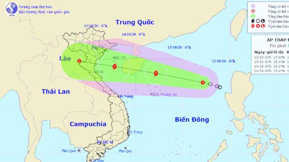 Thêm không khí lạnh, áp thấp nhiệt đới diễn biến phức tạp - Ảnh 1.