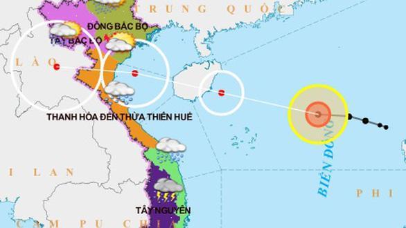Áp thấp nhiệt đới mạnh lên thành bão số 7 - Ảnh 1.