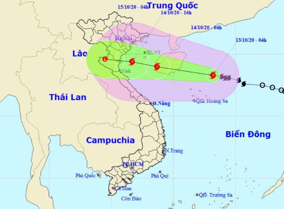 Bão số 7 cách Hoàng Sa 170 km, giật cấp 11 - Ảnh 1.