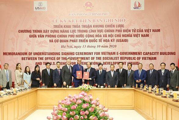Mỹ hỗ trợ Việt Nam xây dựng chính phủ điện tử - Ảnh 1.