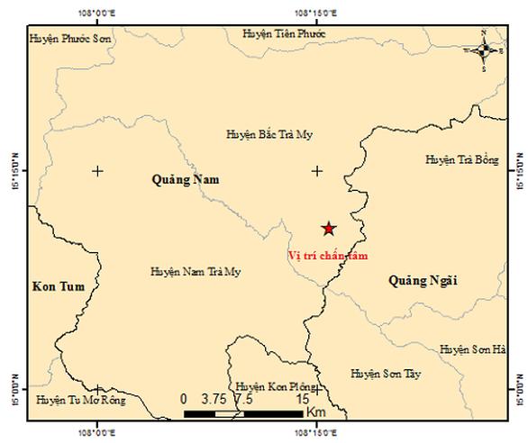 Bắc Trà My lại động đất 3 độ Richter - Ảnh 2.