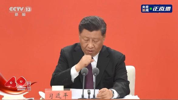 Chủ tịch Tập Cận Bình ho liên tục khi phát biểu ở Thâm Quyến - Ảnh 1.