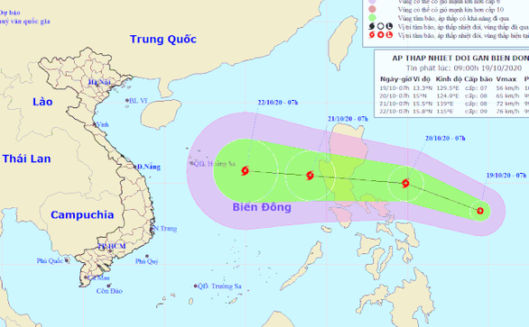 Áp thấp nhiệt đới dự báo mạnh thành bão, miền Trung lại mưa to từ 24-10 - Ảnh 1.