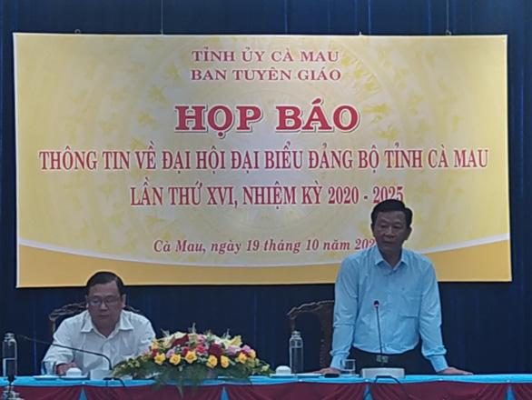 Bí thư Tỉnh ủy Cà Mau sẽ tiếp tục ứng cử nhiệm kỳ 2020-2025 - Ảnh 1.