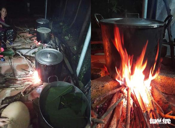 Bà con Nghệ An nấu bánh chưng gửi vô vùng lũ Hà Tĩnh, Quảng Bình - Ảnh 4.