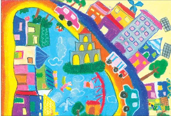 Ngộ nghĩnh thành phố xanh tương lai trong hình dung của các em thiếu nhi - Ảnh 4.