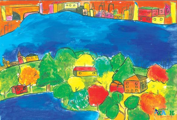 Ngộ nghĩnh thành phố xanh tương lai trong hình dung của các em thiếu nhi - Ảnh 5.