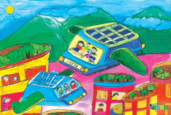 Ngộ nghĩnh thành phố xanh tương lai trong hình dung của các em thiếu nhi - Ảnh 6.