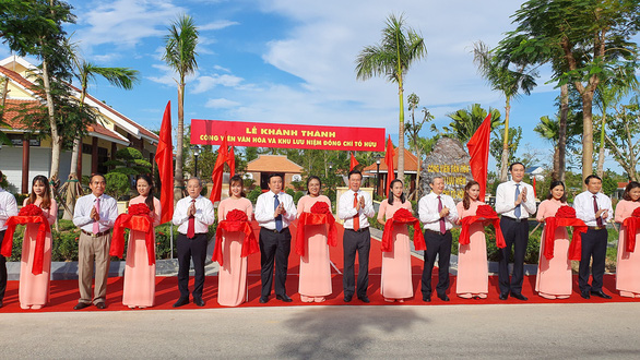 Khánh thành công viên văn hóa và khu lưu niệm nhà thơ Tố Hữu - Ảnh 2.