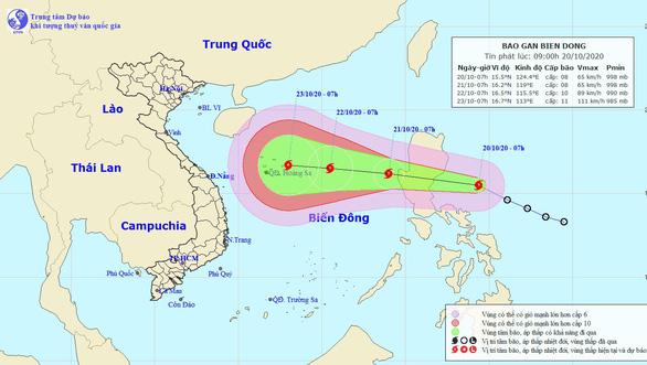 Áp thấp nhiệt đới đã mạnh thành bão, vào Biển Đông sáng mai - Ảnh 1.