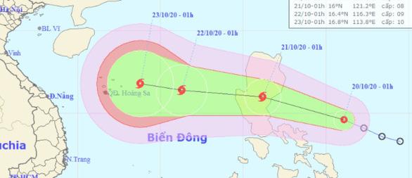 Hai ngày nữa, tâm bão lại cách quần đảo Hoàng Sa 410km, gió giật cấp 11 - Ảnh 1.