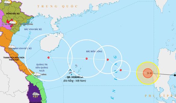 Bão số 8 mạnh nhất cấp 12, giật cấp 14 khi ở quần đảo Hoàng Sa - Ảnh 1.