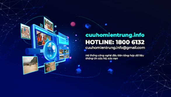Ứng dụng công nghệ hỗ trợ cứu hộ lũ lụt tại địa chỉ cuuhomientrung.info - Ảnh 1.