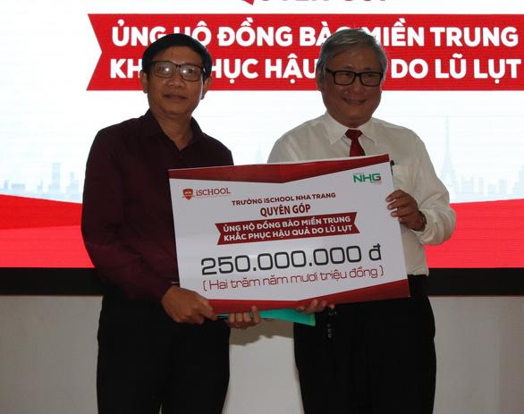 Một trường ở Nha Trang quyên góp 250 triệu đồng cho chương trình cứu trợ miền Trung - Ảnh 3.