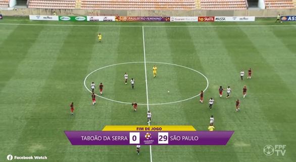 Đội nữ Sao Paulo thắng Taboao da Serra với tỉ số kỉ lục 29-0 ! - Ảnh 1.
