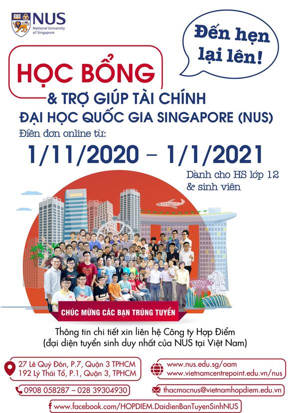 01-11-2020: Hướng dẫn điền đơn online học bổng NUS tại Hà Nội & TPHCM - Ảnh 1.