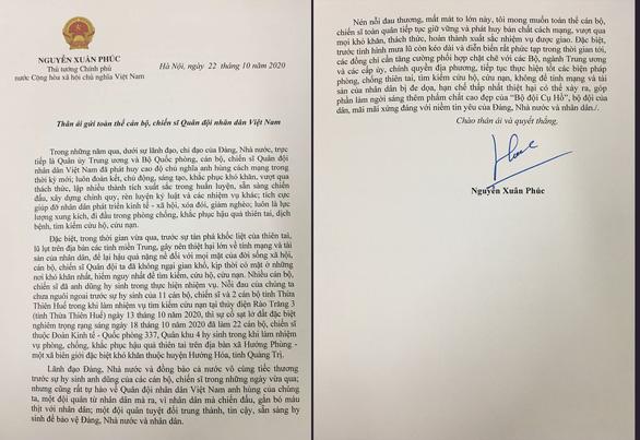 Thủ tướng gửi thư chia sẻ với quân đội, đề cao tinh thần vì nhân dân mà chiến đấu - Ảnh 1.