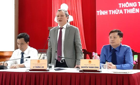 Bí thư Tỉnh ủy Thừa Thiên Huế lý giải việc 11 giám đốc sở không có trong Ban chấp hành Đảng bộ tỉnh - Ảnh 2.