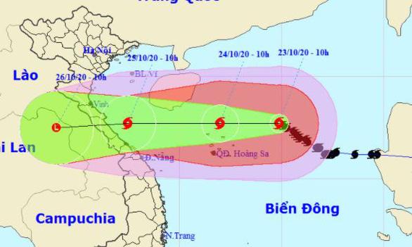 Bão số 8 còn cách Hoàng Sa 300km, sẽ giảm cấp khi vào biển Hà Tĩnh - Quảng Trị - Ảnh 1.