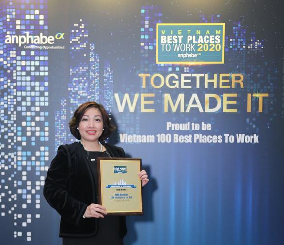 FWD vươn lên top 3 nơi làm việc tốt nhất ngành bảo hiểm Việt Nam - Ảnh 2.