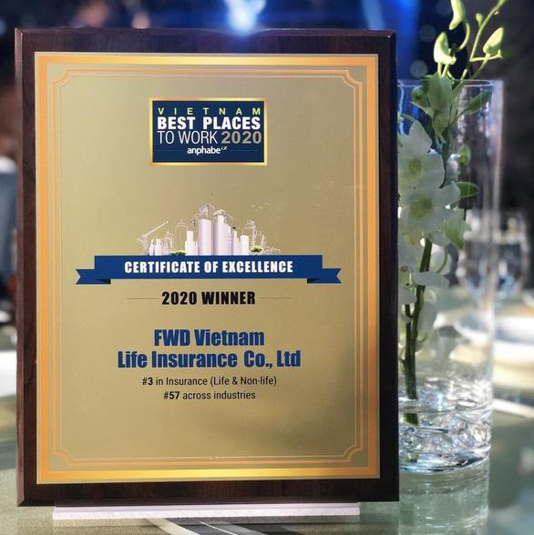 FWD vươn lên top 3 nơi làm việc tốt nhất ngành bảo hiểm Việt Nam - Ảnh 3.