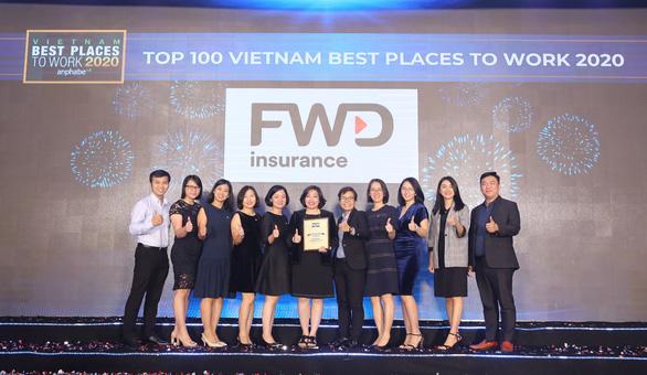 FWD vươn lên top 3 nơi làm việc tốt nhất ngành bảo hiểm Việt Nam - Ảnh 1.