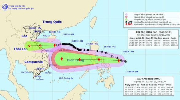 Bão Molave đang di chuyển nhanh vào Biển Đông, có thể mạnh cấp 12-13 khi gần bờ - Ảnh 1.