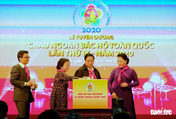 Thiếu nhi Cháu ngoan Bác Hồ chung tay ủng hộ thiếu nhi miền Trung - Ảnh 2.
