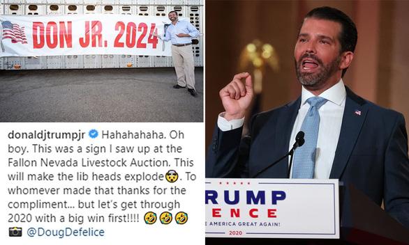 Con trai ông Trump sẽ ra tranh cử tổng thống 2024? - Ảnh 1.